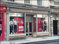957 SF High Street Shop for Rent  |  24 New Bond Street, Bath, BA1 1BA