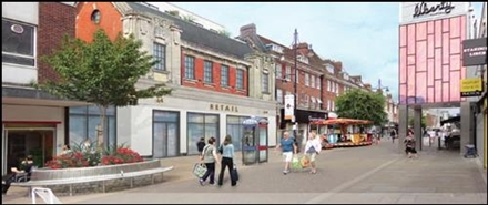 4,844 SF High Street Shop for Rent  |  Unit 1, Romford, RM1 1RB
