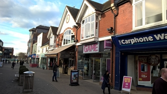 1,342 SF High Street Shop for Rent  |  43 West Street, Horsham, RH12 1PP