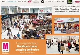 1,400 SF Shopping Centre Unit for Rent  |  Unit 5 Ainsworth Street, The Mall, Blackburn, BB1 6AW
