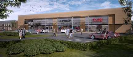 1,700 SF Retail Park Unit for Rent  |  Cafe, Proposed Development At, Burnley, BB11 2DW