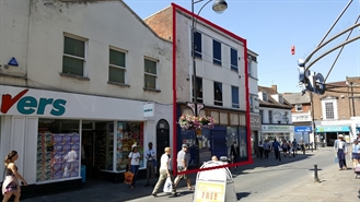 1,474 SF High Street Shop for Rent  |  16 Church Street, High Wycombe, HP11 2DE