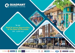 2,686 SF Shopping Centre Unit for Rent  |  Unit 16-18, The Quadrant Shopping Centre, Dunstable, LU5 4RH