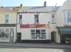 375 SF High Street Shop for Rent  |  42 High Street, Budleigh Salterton, EX9 6LQ