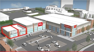 1,500 SF Retail Park Unit for Rent  |  Unit A & B Extension Plans, Flint, CH6 5GB