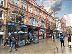 408 SF High Street Shop for Rent  |  20a-21 Albion Place, Leeds, LS1 6JS