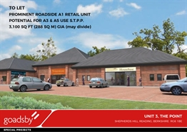 3,100 SF Out of Town Shop for Rent  |  3 The Point London Road, Reading, RG6 1BE