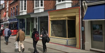 370 SF High Street Shop for Rent  |  21 Sincil Street, Lincoln, LN5 7ET