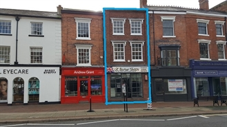 604 SF High Street Shop for Sale  |  42 High Street, Bromsgrove, B61 8HQ