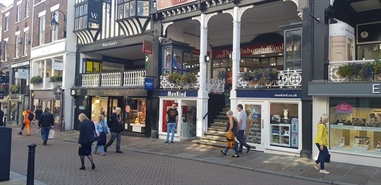 1,976 SF High Street Shop for Rent  |  12 Eastgate Street, Chester, CH1 1LE