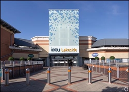 1,498 SF Shopping Centre Unit for Rent  |  Unit 38, Intu Lakeside, Grays, RM20 2ZF