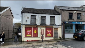 580 SF High Street Shop for Sale  |  2 Bargoed Terrace, Treharris, CF46 5RB