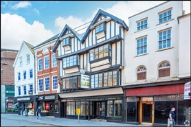 1,437 SF High Street Shop for Rent  |  41 - 42 High Street, Exeter, EX4 3DJ