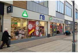 4,307 SF High Street Shop for Rent  |  13-15 Willow Place, Corby, NN17 1BH